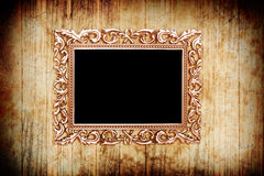 Ancient style golden photo image frame Royalty Free Stock Photos