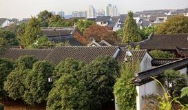 Ancient Style White Apartmenst Suzhou China Stock Photo