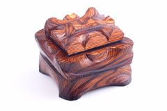 Ancient style wooden box Stock Photos