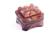 Ancient style wooden box Royalty Free Stock Image