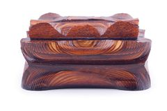 Ancient style wooden box Stock Image