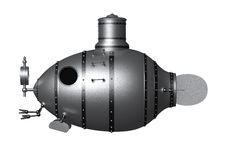 Ancient submarine Royalty Free Stock Photos