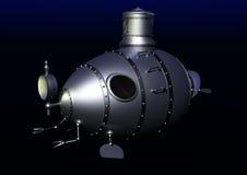 Ancient submarine underwater Royalty Free Stock Image