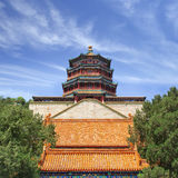 Ancient Summer Palace against a blue sky with white clouds, Beijing, China Stock Photography