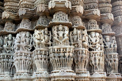 Ancient Sun Temple at Ranakpur Stock Image