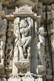 Ancient Sun Temple in Ranakpur. Jain Temple Carving. Stock Images