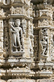 Ancient Sun Temple in Ranakpur. Jain Temple Carving. Royalty Free Stock Photography