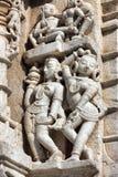Ancient Sun Temple in Ranakpur. Jain Temple Carving. Stock Photos