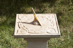 Ancient sundial in garden Stock Image