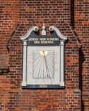 Ancient Sundial on Moot Hall in Aldeburgh Royalty Free Stock Photos