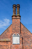 Ancient Sundial on Moot Hall in Aldeburgh Royalty Free Stock Photo