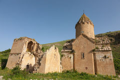 Ancient Surb Karapet ruined church Royalty Free Stock Photography