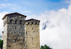 Ancient Svan towers Stock Images