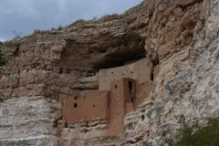 Ancient SW Ruuns. Ruins of ancient native culture in American southwest  Montezuma,s castle cliff dwellings Stock Photos