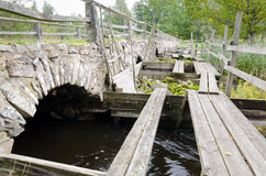 Ancient Swedish bridge Stock Photos