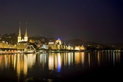 Ancient swiss city Luzerne, Switzerland Royalty Free Stock Photo