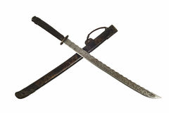 Ancient sword and sheath. Ancient Samurai sword and sheath with isolate background Stock Photography