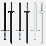 Ancient Swords Set Stock Photos