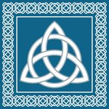 Ancient symbol triskel, traditional celtic element,vector Royalty Free Stock Image