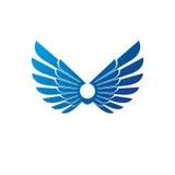 Ancient Symbolic Wings emblem. Heraldic vector design element. R Stock Image