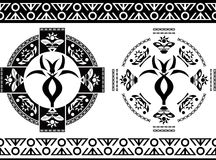 Ancient symbols and borders Royalty Free Stock Photos