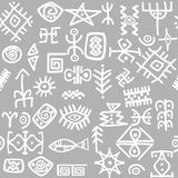 Ancient symbols set seamless Royalty Free Stock Photos