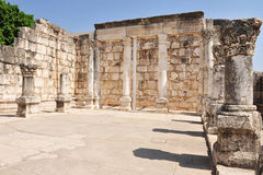 Ancient synagogue in Capernaum Royalty Free Stock Images