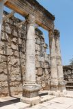 Ancient Synagogue Ruins at Capernaum Stock Photos