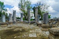 Free Ancient Synagogue Ruins In Baram National Park Stock Image - 144434691