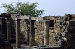 Ancient synagogue Umm el Kanatir, Israel Stock Photos