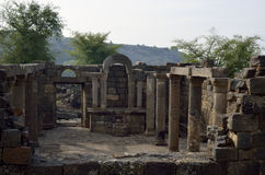 Ancient synagogue Umm el Kanatir, Israel. Archaeological site Mother of the Arches or Umm el Kanatir in Golan Heights, Israel stock photo