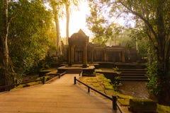 Ancient Ta Prohm Temple, Angkor, Cambodia Royalty Free Stock Photos