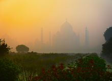Ancient Taj Mahal mausoleum in Agra, India Royalty Free Stock Photo