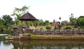Ancient Taman Ayun palace temple, Bali stock images