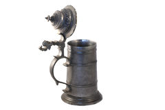Ancient Tankard - Open. Ancient Eastern Europen tankard, with the lid open Stock Photos