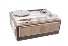 Ancient tape recorder Royalty Free Stock Photography