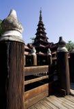 Ancient teak monastery, Bagaya Kyaung, Burma Royalty Free Stock Images