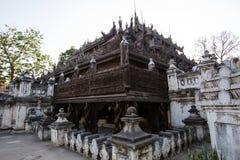 Ancient teak monastery of Shwenandaw Kyaung Stock Photography