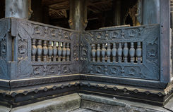 Ancient teak wood carving Stock Images