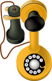 Ancient telephone Royalty Free Stock Photography