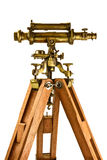 Ancient telescope isolated on white Stock Image