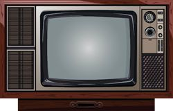 Ancient television antique tv Stock Images