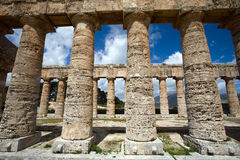 Ancient temple. Ancient Greek temple of Venus in Segesta village, Sicily, Italy Stock Photography