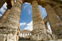 Ancient temple. Ancient Greek temple of Venus in Segesta village, Sicily, Italy Stock Images