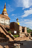Ancient temple. Located in Ayutthaya province,Thailand Royalty Free Stock Photography