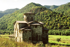 Ancient temple. Ancient temple in Arhyz.Karachai.Western Caucasus.Russia Royalty Free Stock Photo
