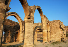 Ancient temple. With columns and pillars form an old village in CYPRUS Royalty Free Stock Photo