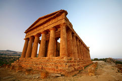 Ancient temple. In the valley of the temples in Agrigento, Sicily, Italy Royalty Free Stock Photos