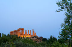 Ancient temple. In the valley of the temples in Agrigento, Sicily, Italy Stock Images