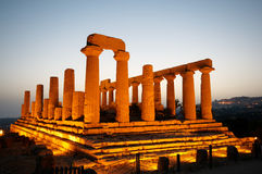 Ancient temple. In the valley of the temples in Agrigento, Sicily, Italy Stock Photo